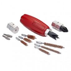 Набор фрез и ершиков для чистки гильзы Hornady LOCK-N-LOAD® QUICK CHANGE HAND TOOL (удобная ручка, чистка капсульного гнезда и горлышка гильзы)