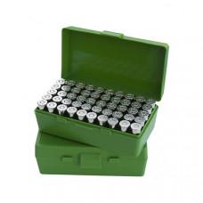 Коробка на 50 патронов ( 9 мм) MTM Ammo Box 50 Round Flip-Top 9mm 380 ACP