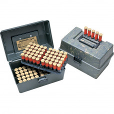 Кейс пластиковый MTM на 100 патронов 12К Shotshell Case 100 Round with 2 Trays for 12 Gauge up to 3""