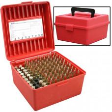Коробка на 100 патронов с ручкой MTM ( 300, 338  Win ) Deluxe