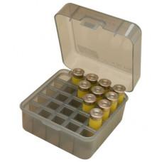 """Коробка для хранения и переноски 25 патронов 12, 16 и 20 калибров MTM Shotshell Box 25 Round Flip-Top 12 20 Gauge up to 3"""" (дымчатая)"""